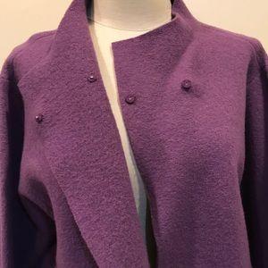 Eileen Fisher 100% Wool Cloak
